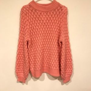 H&M's chunky pink knit sweater